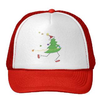 © del corredor del árbol de navidad gorro de camionero