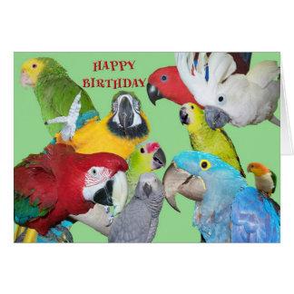 Del cumpleaños de la multitud tarjeta de felicitación