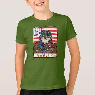 Del deber general Patton Hopeflag primero - Remera