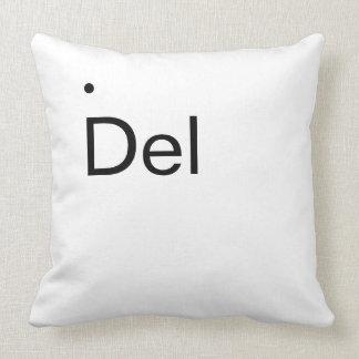 Del, Delete key throw pillow