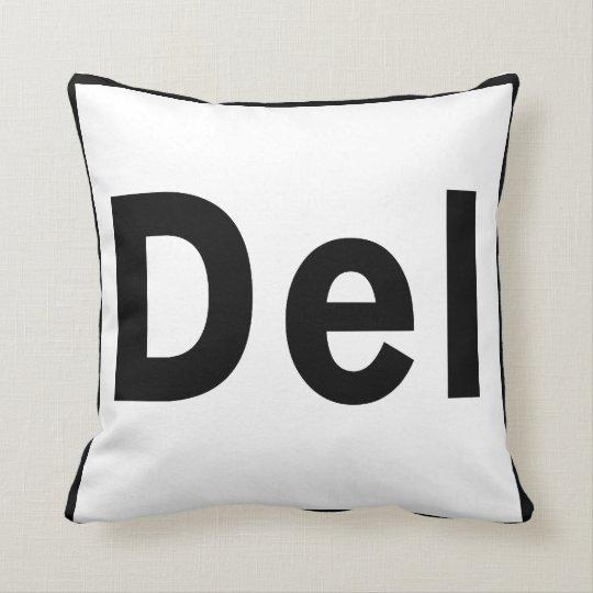 DEL  Delete Key Throw Pillow