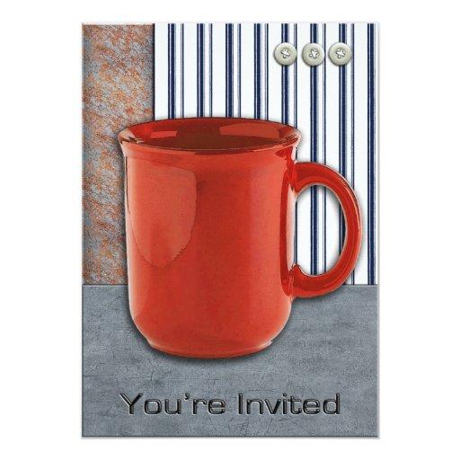 Del descanso para tomar café del botón invitación