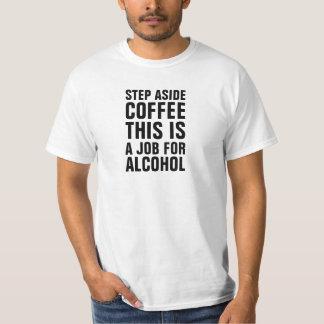 Del descuento del paso el café a un lado esto es camisas