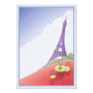 """© del día de fiesta de París Invitación 5"""" X 7"""""""