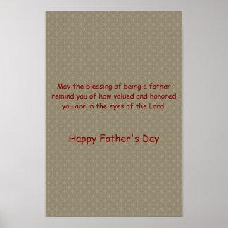 ~ del día de padre del ~ del día de fiesta bendeci posters