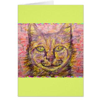 del día soleado del gato tipo ey tarjeta de felicitación