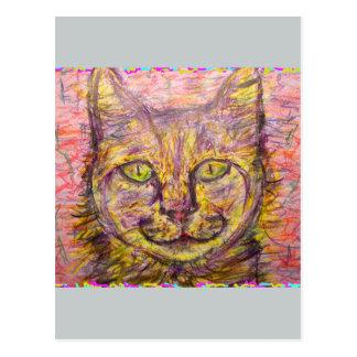 del día soleado del gato tipo ey tarjeta postal