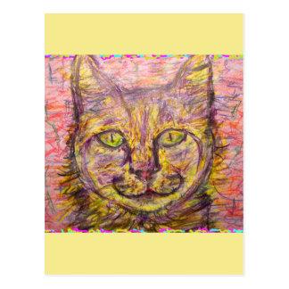 del día soleado del gato tipo ey postales