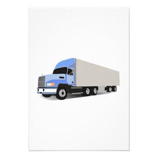 Del dibujo animado camión semi comunicados