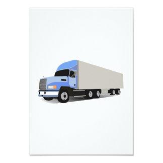 """Del dibujo animado camión semi invitación 3.5"""" x 5"""""""
