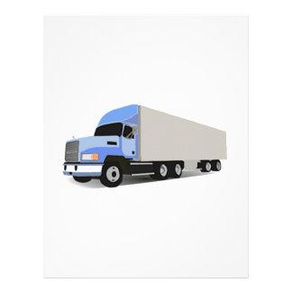 Del dibujo animado camión semi membrete a diseño