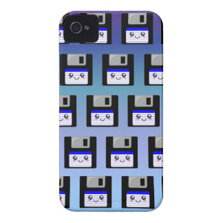 Del disco blando lindo - caja azul del iphone 4 iPhone 4 Case-Mate cárcasa