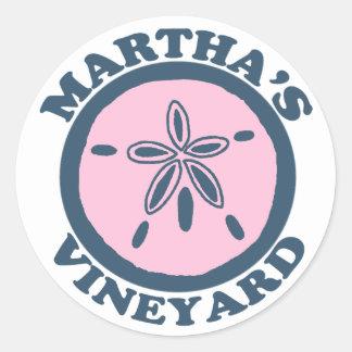 "Del ""diseño dólar de arena"" del Martha's Vineyard Pegatina Redonda"