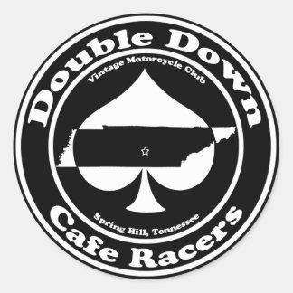 Del doble pegatina de los corredores del café abaj
