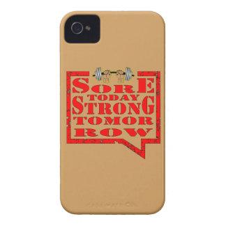 Del dolor entrenamiento fuerte de la fuerza de la funda para iPhone 4