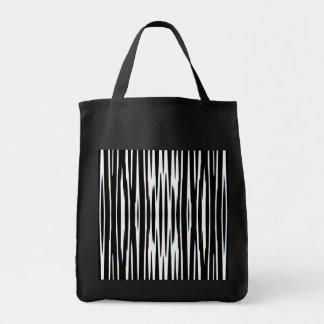 ~ del ÉBANO y de la MARFIL (rayas de la cebra) Bolsa Tela Para La Compra