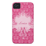 Del elefante del damasco del rosa del cortocircuit iPhone 4 carcasas