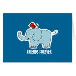 """Del elefante y del pájaro de los """"amigos tarjeta d"""