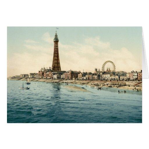 Del embarcadero central, Blackpool, Inglaterra Tarjeta De Felicitación