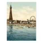 Del embarcadero central, Blackpool, Inglaterra Postales