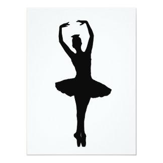 """~ del EN POINTE (bailarín de la PIRUETA de la Invitación 6.5"""" X 8.75"""""""