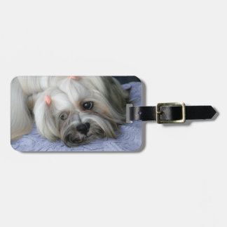 """Del """"equipaje rugoso perro del león de la corteza"""" etiquetas para maletas"""