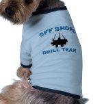 Del equipo de perforación de la orilla camisetas mascota