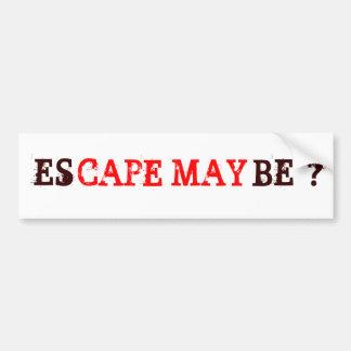del escape pegatinas para el parachoques quizá par etiqueta de parachoque