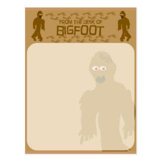 ¡Del escritorio de Bigfoot! Tarjeta Postal