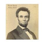 Del escritorio de la libreta de Abraham Lincoln Blocs