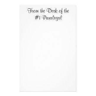Del escritorio de la libreta del Paralegal #1 Papeleria Personalizada