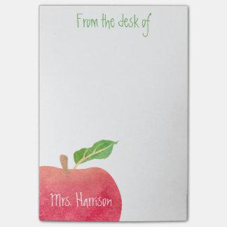 Del escritorio del profesor Apple rojo Notas Post-it®