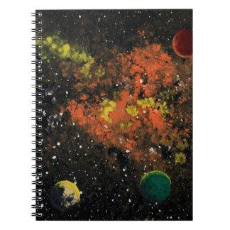 ~ del ESPACIO 3 (un diseño del espacio exterior) Libretas Espirales