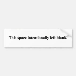 """del """"espacio pegatina para el parachoques en blanc pegatina para auto"""