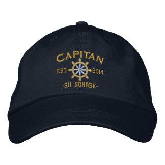 Del ESPAÑOL barco. de Nombre del ubicación del EL Gorras Bordadas