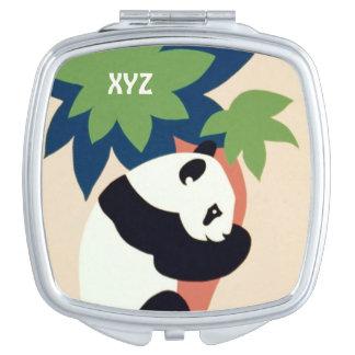 """Del """"espejo de encargo del bolsillo parque zoológi espejo para el bolso"""