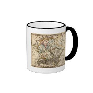 Del este - mapa europeo taza de café