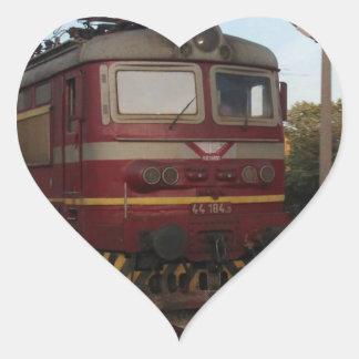 Del este - tren de mercancías europeo pegatina en forma de corazón