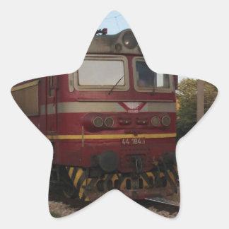 Del este - tren de mercancías europeo pegatina en forma de estrella