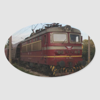 Del este - tren de mercancías europeo pegatina ovalada