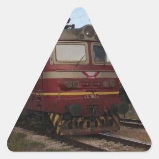 Del este - tren de mercancías europeo pegatina triangular