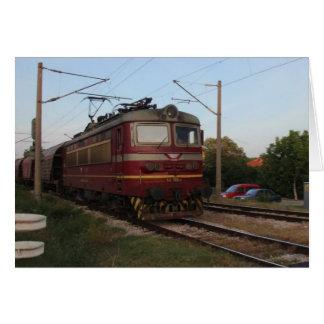 Del este - tren de mercancías europeo tarjeta de felicitación
