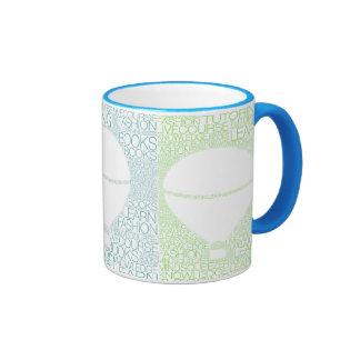 """Del """"estilo azul de la palabra"""" de la taza"""