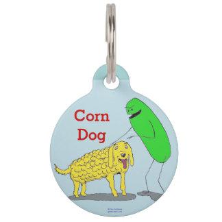 """Del """"etiqueta verde del mascota perro de maíz"""" de  identificador para mascota"""