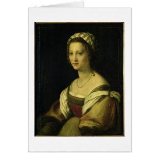 Del Fede, la esposa del artista, C. de Lucrezia di Tarjeta De Felicitación