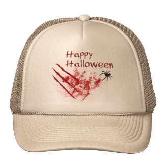 Del feliz Halloween rasguños Bloody - gorra