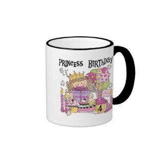 Del fiesta 4tas cumpleaños camisetas y regalos de  taza de café