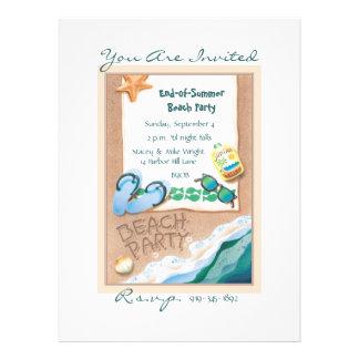 © del fiesta de la playa invitaciones personales