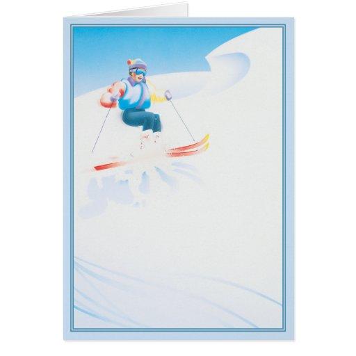 © del fiesta del esquí tarjeta de felicitación