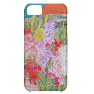 """Del """"flores soporte de la granja"""" del caso Iphone5 Funda Para iPhone 5C"""